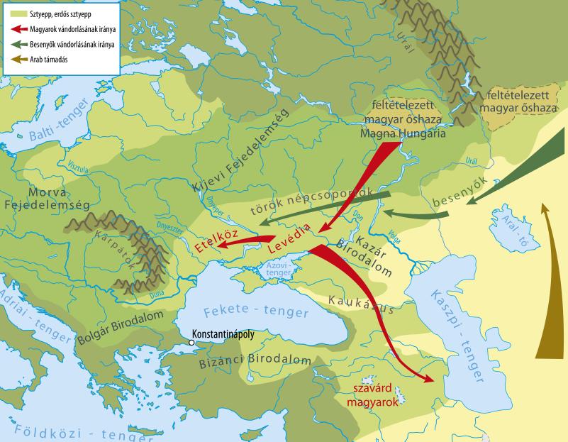 magyar őshaza térkép Nyelv és Tudomány  Rénhírek   Kísérleti őstörténet
